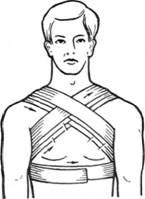 Хрестовидна пов'язка на груди