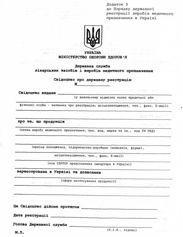 бланки для реєстрації фоп