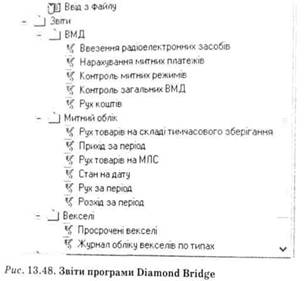 Звіт прграми Diamond Bridge
