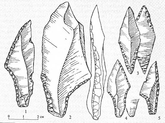 Кремневые наконечники стрел культур финального палеолита Полесья