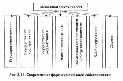 Собственность ее сущность формы и место в экономической системе  Современные формы смешанной собственности