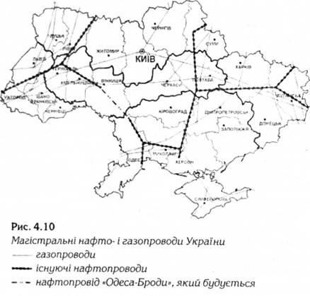 Магістральні нафто- і газопроводи