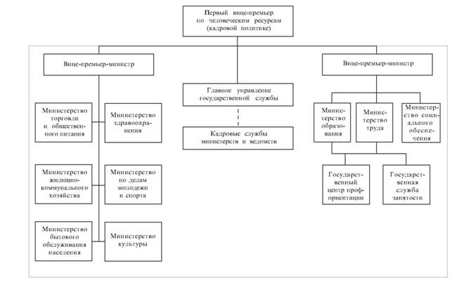 Примерная схема органов