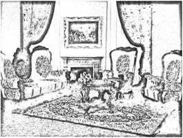 Интерьер помещения комнаты в ренессансном стиле