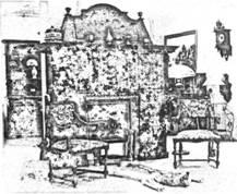 Часть интерьера помещения в неоренессансном стиле