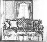 Дизайн дивана в стиле барокко