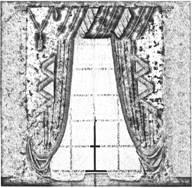 Оформление окон драпировками в стиле ренессанс XVI века